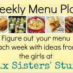 Six Sisters' Weekly Meal Plan #6