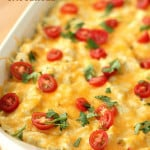 White Chicken Enchilada Casserole from SixSistersStuff