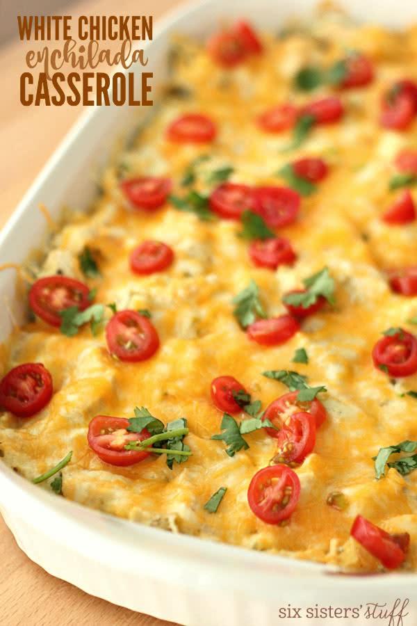 White Chicken Enchilada Casserole Recipe