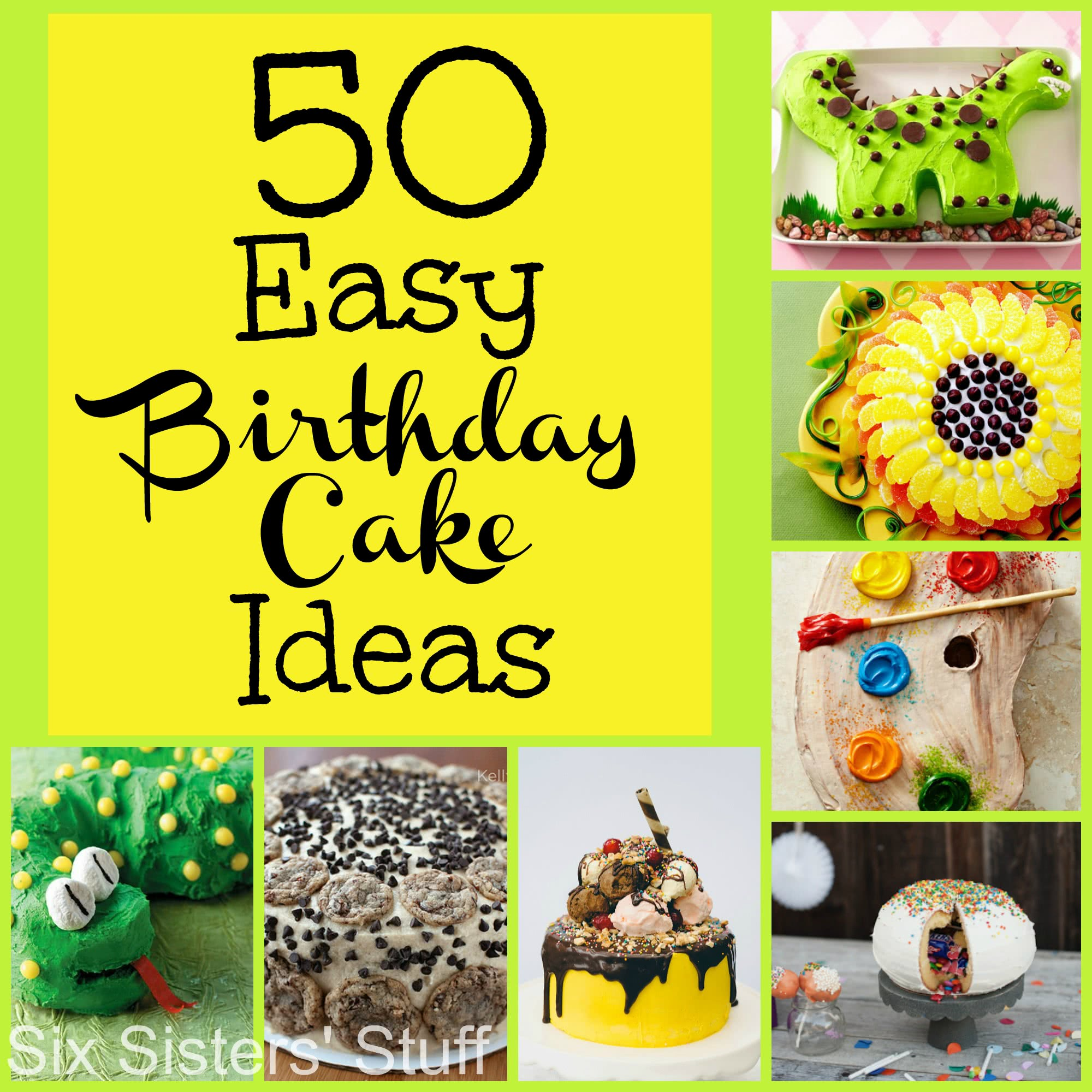 50 Easy Birthday Cake Ideas