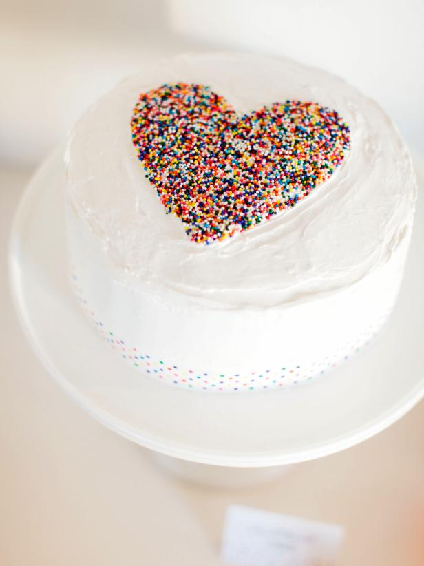 A Simple Frosted Cake Mix And Canned Frosting Work Great With Sprinkles In The Shape Of Heart You Wont Believe How Easy This One Is To