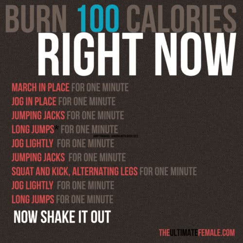 Get Your Workout On! {Burn 100 Calories Right Now}