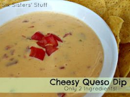2 Ingredient Cheesy Queso Dip
