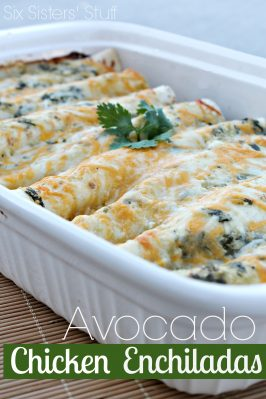 Avocado Chicken Enchiladas Recipe