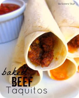 Baked Beef Taquitos Recipe