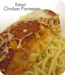 Baked Crispy Chicken Parmesan Recipe
