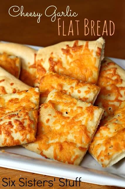 Cheesy Garlic Flat Bread