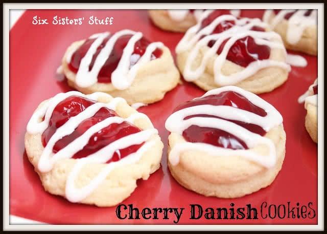 Cherry Danish Cookies