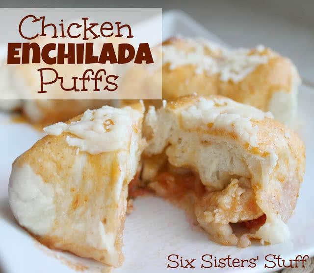 Chicken Enchilada Puffs Recipe
