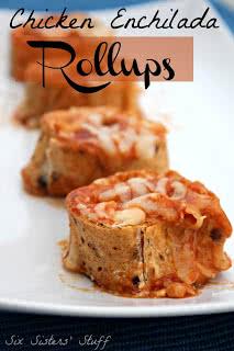 Chicken Enchilada Roll-Ups