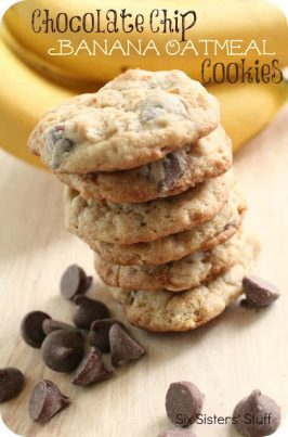 Chocolate Chip Banana Oatmeal Cookies Recipe