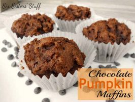 Chocolate Pumpkin Muffins (only 3 ingredients!)