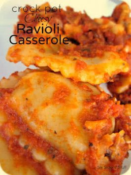 Crock Pot Cheesy Ravioli Casserole Recipe