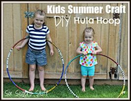 Kids Summer Craft DIY Hula Hoop