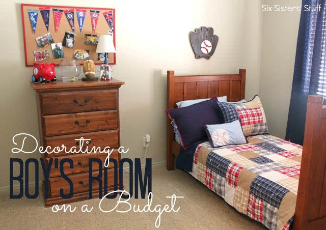Decorating A Boy S Bedroom On A Budget Six Sisters Stuff