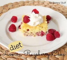 Diet Lemon Raspberry Cake Recipe