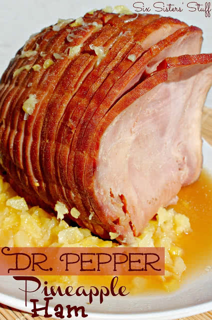 Dr. Pepper Glazed Ham