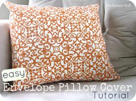 Easy Envelope Pillow Cover Tutorial