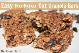 Easy No Bake Oat Granola Bars