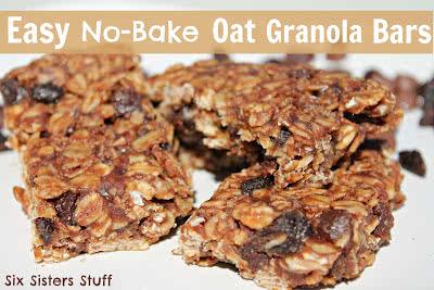 Easy No Bake Oat Granola Bars