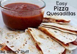 Easy Pizza Quesadillas