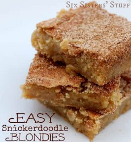 Easy Snickerdoodle Blondies