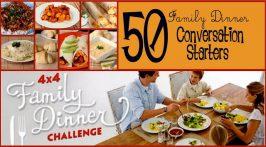 50 Family Dinner Conversation Starters