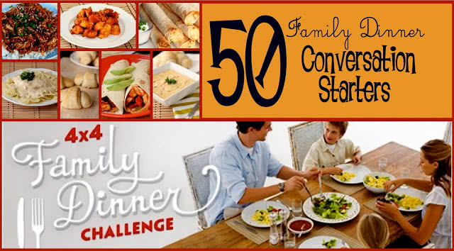 50 Family Dinner Conversation Starters/ Six Sisters' Stuff | Six