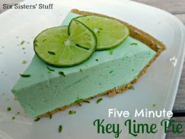 5 Minute Creamy Key Lime Pie