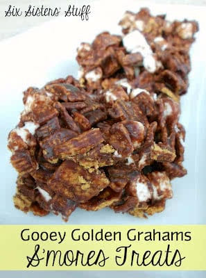 Gooey Golden Grahams S'mores Treats