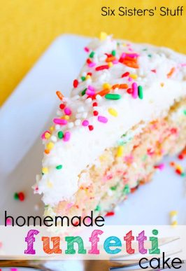 Homemade Funfetti Cake and Buttercream Frosting