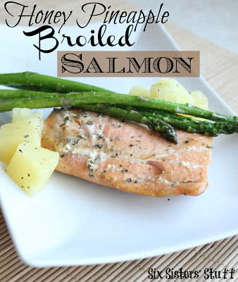 Honey Pineapple Broiled Salmon
