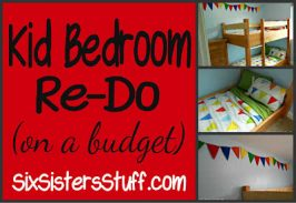 Kid Bedroom Re-do on a Budget