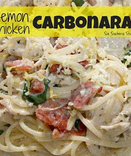 lemon chicken carbonara recipe