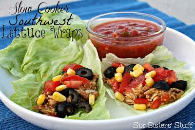 Slow Cooker Southwest Lettuce Wraps