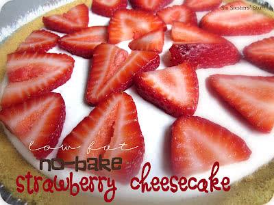Low Fat No-Bake Strawberry Cheesecake Recipe
