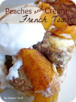Overnight Peaches and Cream French Toast Recipe