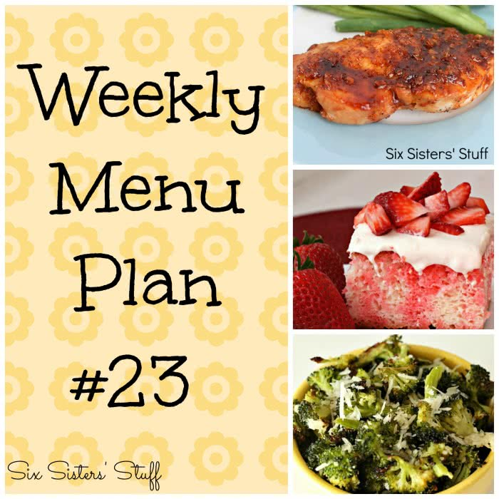Six Sisters' Weekly Menu Plan #23