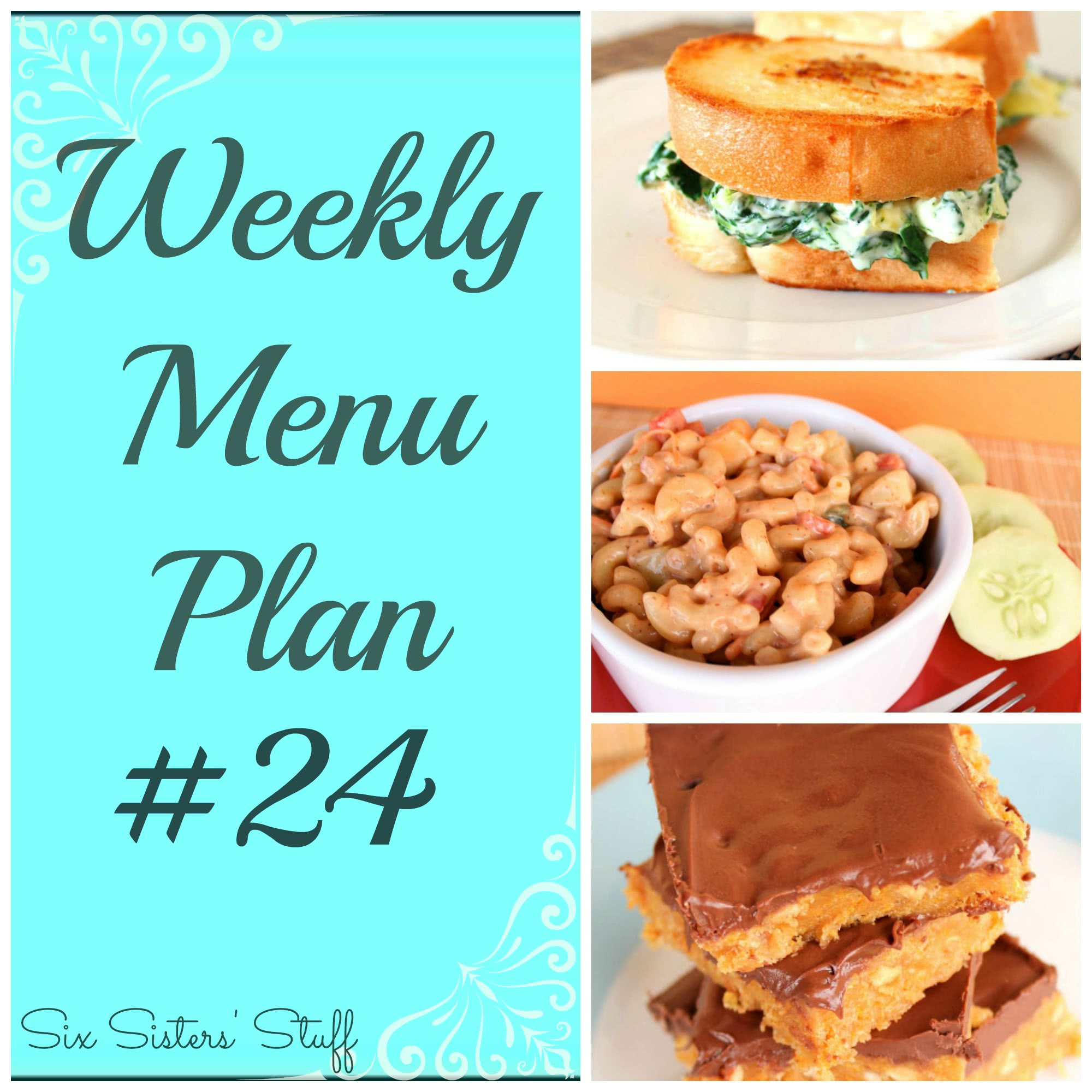 Six Sisters' Weekly Menu Plan #24
