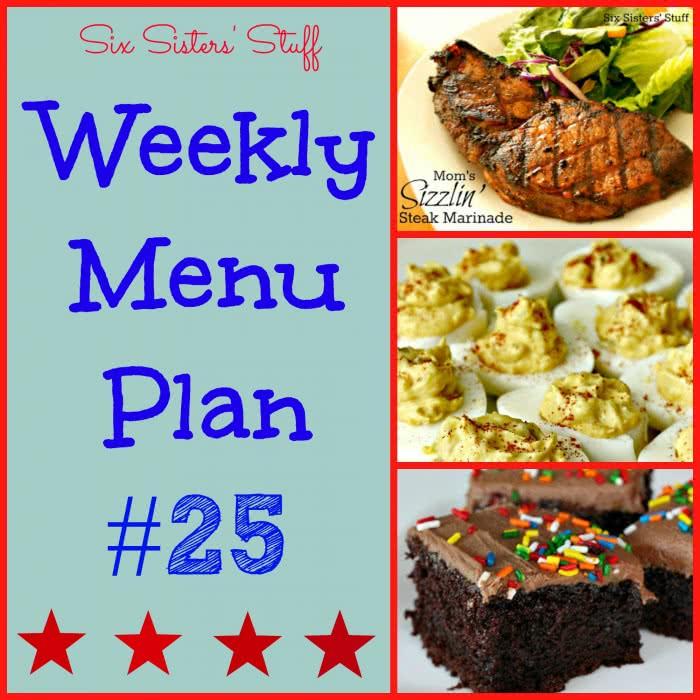 Six Sisters' Weekly Menu Plan #21