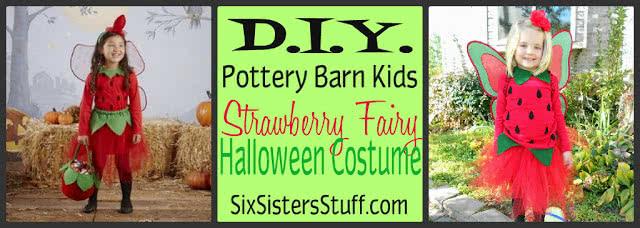 DIY Pottery Barn Kids Strawberry Fairy Halloween Costume Tutorial