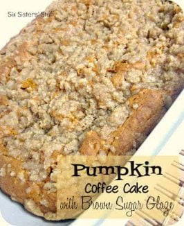 Pumpkin Coffee Cake with Brown Sugar Glaze Recipe