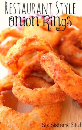homemade onion rings that are crispy