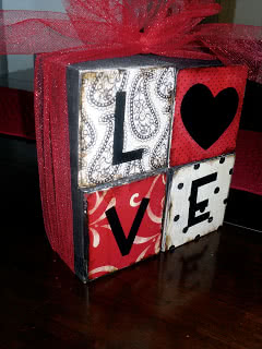 Easy Valentines Love Blocks Tutorial