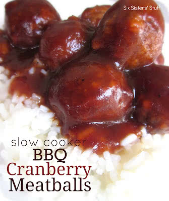 Slow Cooker BBQ Cranberry Meatballs Recipe