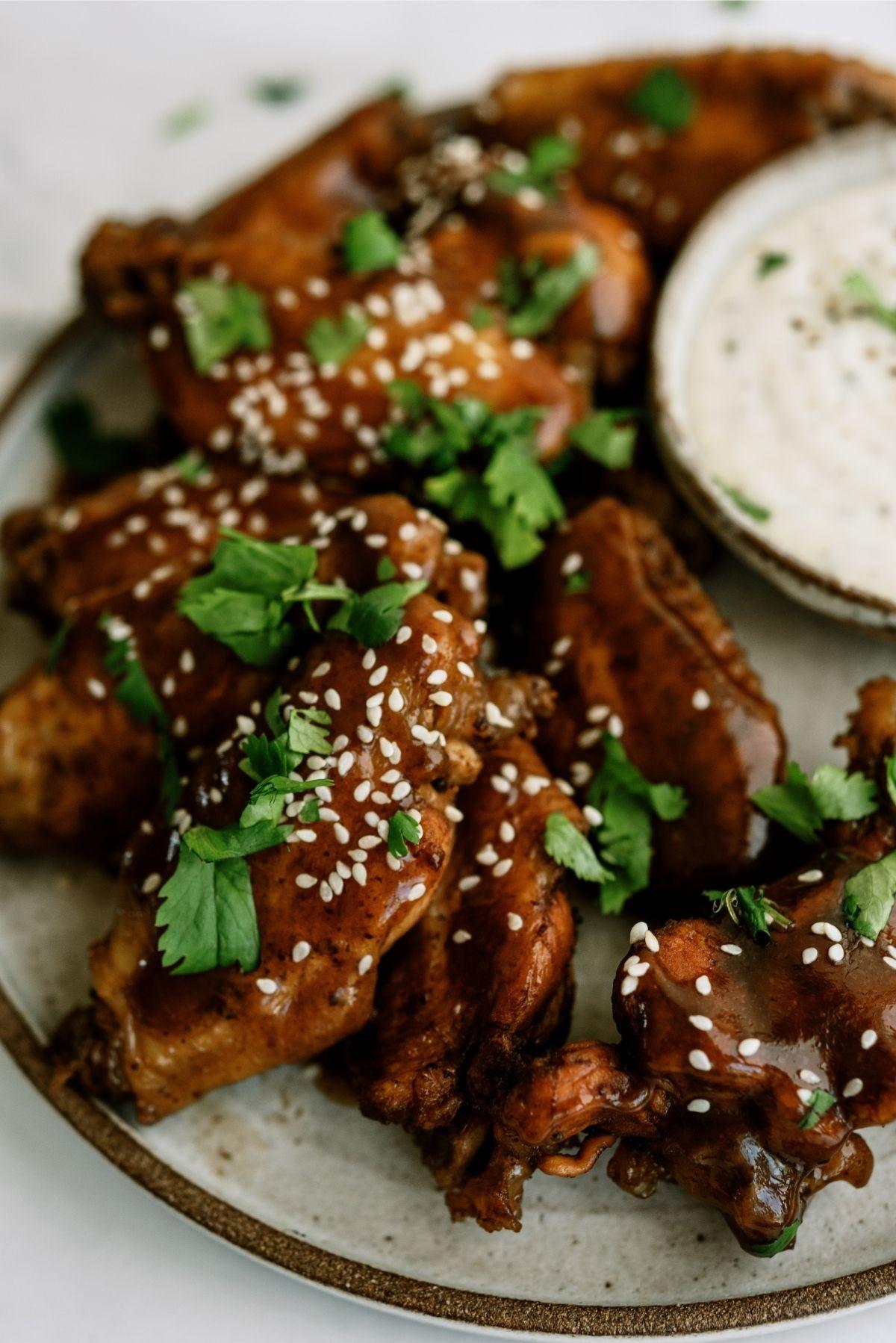 Slow Cooker Sticky Chicken Wings Recipe