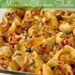 Mexican stuffed shells with chicken
