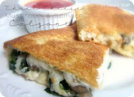 Three Cheese Mushroom and Spinach Calzone Recipe