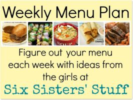 Six Sisters' Weekly Menu Plan #8