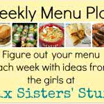 Six Sisters' Weekly Menu Plan #4